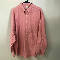 Brooks Brothers 346 Pink Striped Mens XL Button Down Shirt