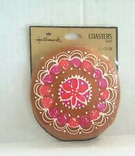Hallmark Vintage Coasters Gumdrop Gingerbread Print 12 Pack NWT 1960s 1970s