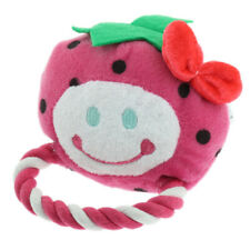 Cute Fruit Shape Cat Dog Braided Cotton Rope Chew Play Fetch Training Toys B