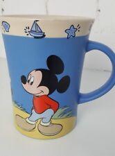 DISNEY STORE MICKEY & MINNIE MOUSE AT THE BEACH LARGE COFFEE MUG VGC