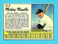 LOT of 25 REPRINT 1962 JELLO #5 MICKEY MANTLE Yankees HOF