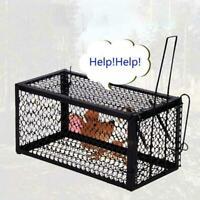 Humane Rat Trap Cage Live Animal Pest Rodent Mice Mouse Control Catch Bait T6B4