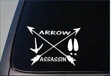 Arrow Assassin Sticker H155 8 Vinyl Bowhunting Bow Deerstand Turkey