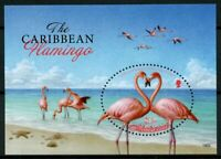 Montserrat Birds on Stamps 2019 MNH Caribbean Flamingo Flamingos 1v S/S