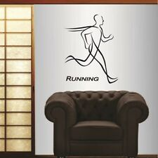 Vinyl Decal  Running Run Man Boy Guy Sportsman Sports Fitness Wall Decor 885