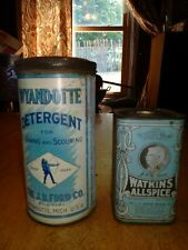Antique Blue tin cans Vintage