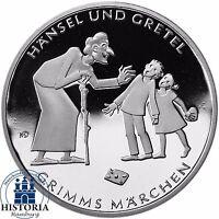 Deutschland 10 Euro Grimms Märchen: Hänsel und Gretel 2014 Silber Spiegelglanz