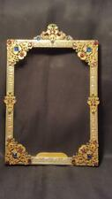 VTG 1920's Apollo Studios Jeweled Picture Frame w/glass