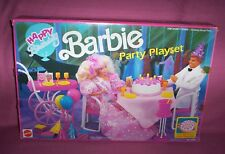 1991 Mattel Happy Birthday Barbie Party Playset Candles Disappear No. 7553 Nrfb