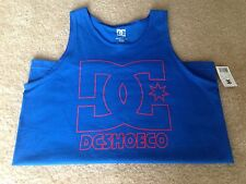 DC SHOE Men's Sleeveless Shirt. Color Blue. Size M.