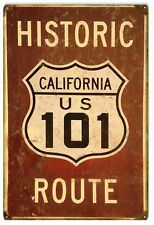 Vintage Antique Style Metal Sign Route 101 California 18x30
