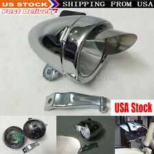 180LM Chrome Retro Vintage Bicycle Bike LED Front Head Light Headlight Fog Lamp