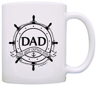Father's Day Gift for Dad Best Captain Ever Nautical Coffee Mug Tea Cup
