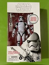 """Star Wars The Black Series First Edition 6"""" FIRST ORDER STORMTROOPER Hasbro"""