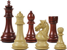 "Premier Chess Set Pieces Royal Knight King Size 4-1/2"" Blood Rosewood/Boxwood"