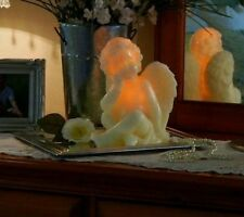 QVC Home Reflections H193823 Carved Cherub Luminary Flameless Candle with Timer