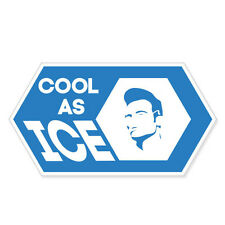 "Cool As Ice car bumper sticker decal 5"" x 3"""
