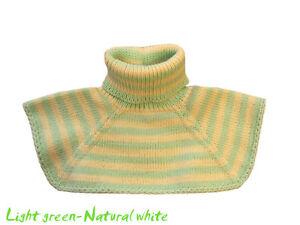 Neck Warmer 100% MERINO WOOL baby toddler children collar scarf neckwarmer knit