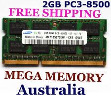 SAMSUNG 2GB DDR3 PC3-8500 1066 LAPTOP Memory Ram iMac MacBook Windows FREE POST