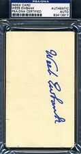 Weeb Ewbank Signed Psa/dna 3x5 Index Card Authentic Autograph
