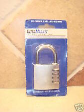 NEW InterMarket Combination Pad Lock Padlock in Package