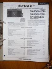 sharp cd c250h cd c260h cp c250 cd system repair manual