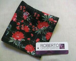 Hankie Pocket Square Handkerchief Hanky MENS Red Flowers FLORAL NEW
