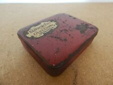 early Boots Chemist Blackcurrant & Glycerin Pastilles tin 10x8x2.5 cm