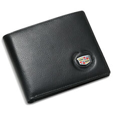 Cadillac Black Bifold Wallet Genuine Leather with 6 Credit Card ID Holder Men