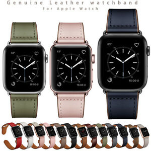 For Apple Watch Band Luxury Genuine Leather iWatch Strap Series 5 4 3 2 1
