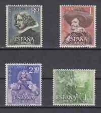 SPAIN (1961) NUEVOS SIN FIJASELLOS MNH SPAIN - EDIFIL 1340/43 VELAZQUEZ