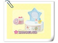 Re-ment Little Twin Stars Dream Room drawer makeup table - No.1