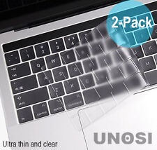 """2-PK Keyboard Cover MacBook Pro 13"""" 15"""" Touch Bar 2016 2017 2018 Protector Clear"""