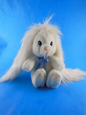 """Vintage Applause 7"""" white bunny rabbit with long ears plush Sue Sona ADORABLE"""
