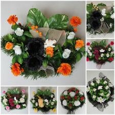 deko blumen k nstliche pflanzen mit rosen grabschmuck. Black Bedroom Furniture Sets. Home Design Ideas