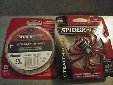 SpiderWire Stealth Braid Braided Fishing Line / Moss Green / 50 Lb / 125 Yards