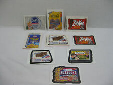 Lot of 9 Wacky Packages Stickers, Tattoos, AND Clear Clings Vintage Topps 2004