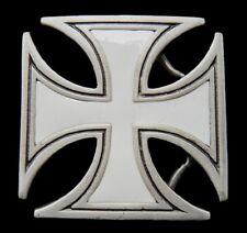Celtic Irish Maltese Iron White Cross Cool Belt Buckle Boucle De Ceinture