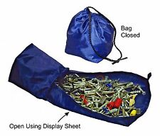 Drawstring Hardware Bag-Features Patented Fabric Sorting Tray-Find Items Fast