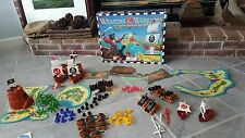 Vintage Pressman Weapons and Warriors Pirate Battle Board Game 98% complete