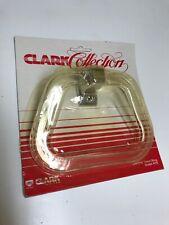 Vintage Chrome & Clear Towel Ring Stirrup Holder Hanger Bathroom Nos Model R7S