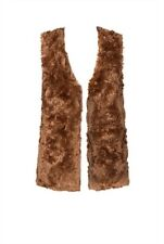 NWT Brown COUNTRY ROAD Faux Fur Sleeveless Longline Vest Size S/10