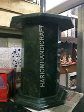 """18""""H 15""""Dia Green Marble Table Top Stand HandCrafted Home Decor E548(1)"""