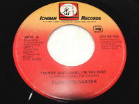 """Clarence Carter """"I'm Not Just Good, I'm.."""" 45 RPM, 7"""" Single, 1988 Soul/Funk, VG"""