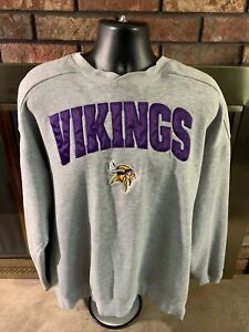 Vintage Starter MINNESOTA VIKINGS NFL FOOTBALL Crewneck Sweatshirt Mens XL Vtg