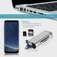 5-in-1 Type C OTG TF Card Reader With USB For PC USB3.0 & Phone SD TF Adapter