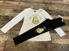 JUSTICE GIRLS avocado SHIRT LEGGINGS Outfit Set Nwt Size 10
