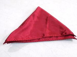 Alfani Men's Red Solid Pocket Square Handkerchief 100% Polyester NWOT PS627