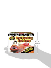 New listing Zoo Med Reptile Basking Spot Lamp 100 Watts 2 Bulb Value Pack