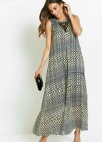 A Line Evening Party Maxi Dress With Sparkling Black Beaded Neckline Detail